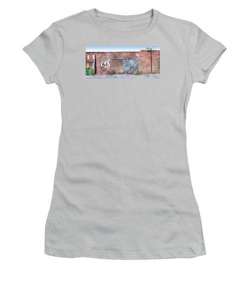 Women's T-Shirt (Junior Cut) featuring the digital art Get Your Kicks by Sandy MacGowan