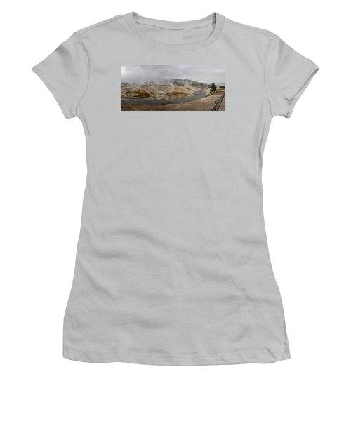 Geyser Hill  Women's T-Shirt (Junior Cut) by Shirley Mitchell