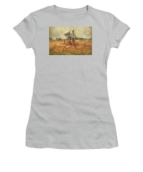 Ghosts Of Gettysburg II Women's T-Shirt (Junior Cut) by Randy Steele