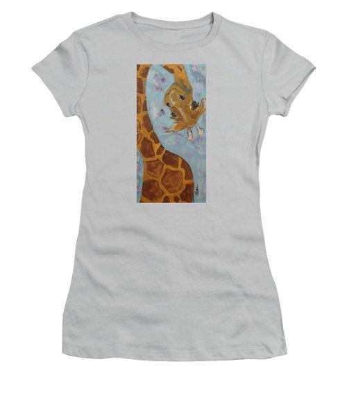 Giraffe Tall Women's T-Shirt (Junior Cut) by Terri Einer