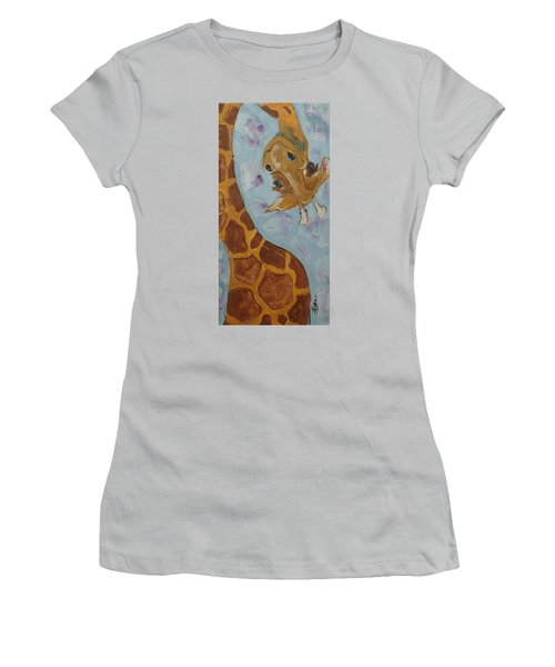 Giraffe Tall Women's T-Shirt (Athletic Fit)