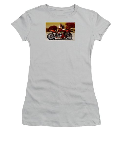 Women's T-Shirt (Junior Cut) featuring the photograph Girl On Fire by Lawrence Christopher