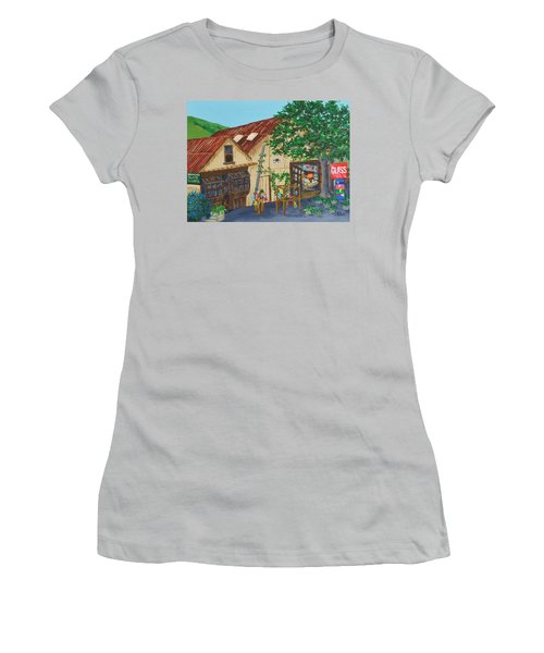 Glass Blower Shop Harmony California Women's T-Shirt (Junior Cut) by Katherine Young-Beck