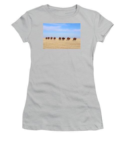 Gobi Camels Women's T-Shirt (Junior Cut) by Diane Height