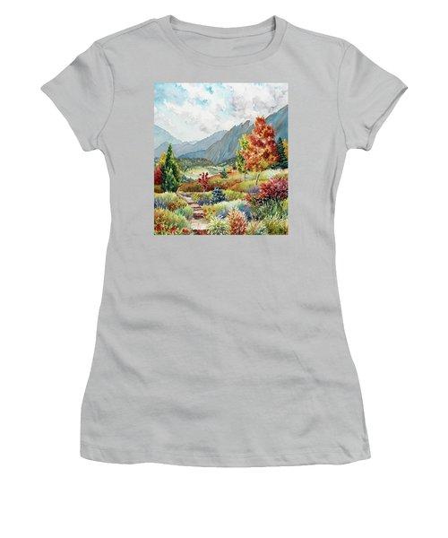 Golden Trail Women's T-Shirt (Athletic Fit)