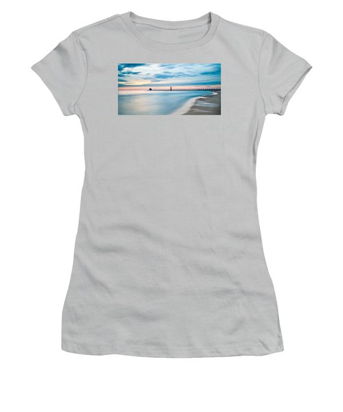 Grand Haven Pier - Smooth Waters Women's T-Shirt (Athletic Fit)