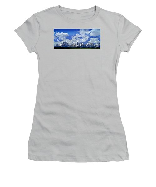 Grand Tetons Women's T-Shirt (Junior Cut) by Ellen Heaverlo