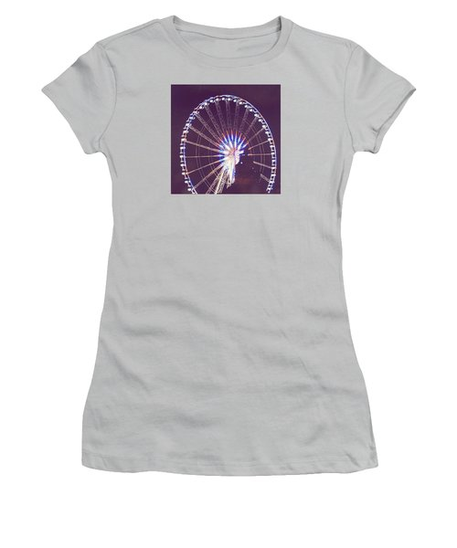 Grande Roue De Paris By Night Women's T-Shirt (Athletic Fit)