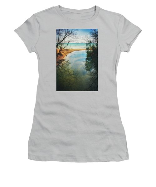 Grant Park - Lake Michigan Shoreline Women's T-Shirt (Junior Cut) by Jennifer Rondinelli Reilly - Fine Art Photography