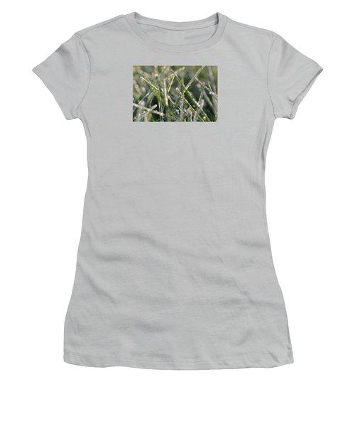 Grass Bokeh Women's T-Shirt (Junior Cut) by Nikki McInnes