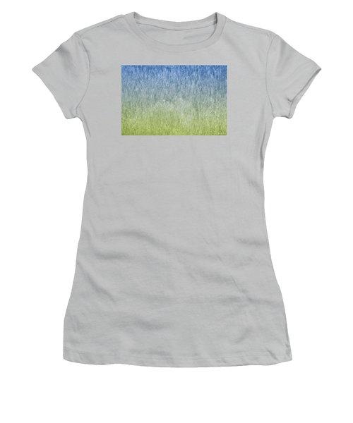 Grass On Blue And Green Women's T-Shirt (Junior Cut) by Glenn Gemmell