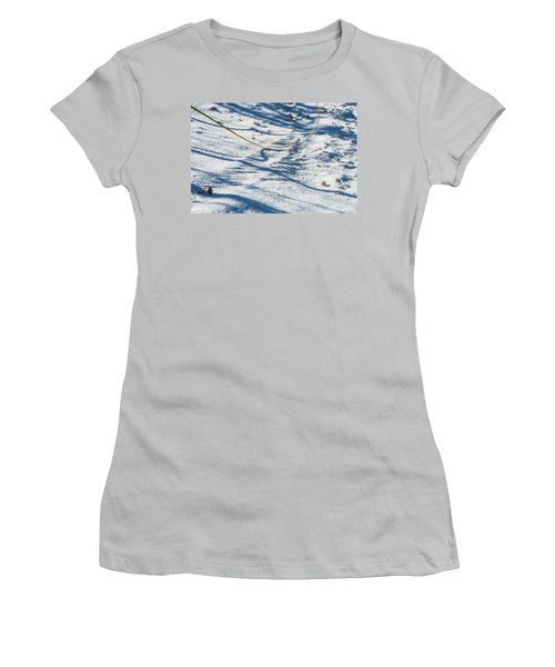 Grass Scapes In The Sand Women's T-Shirt (Athletic Fit)