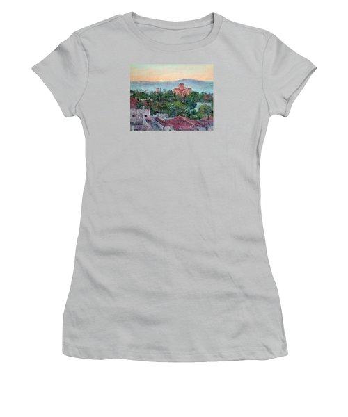 Greek Orthodox Sunset Women's T-Shirt (Junior Cut) by Jill Musser