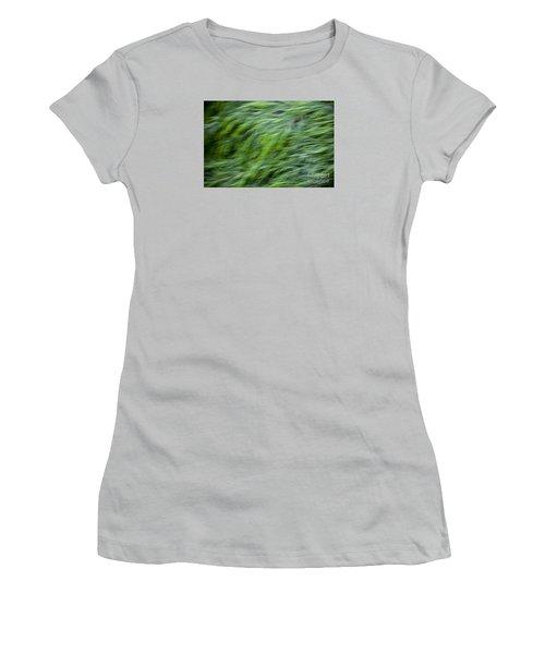 Green Waterfall 2 Women's T-Shirt (Junior Cut) by Serene Maisey
