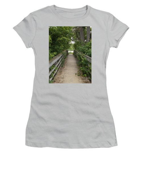 Greenery Bridge Women's T-Shirt (Junior Cut) by Erick Schmidt
