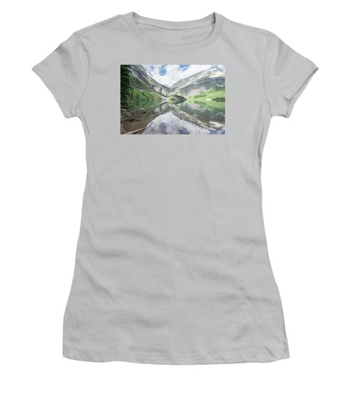 Grinnell Lake Mirrored Women's T-Shirt (Athletic Fit)