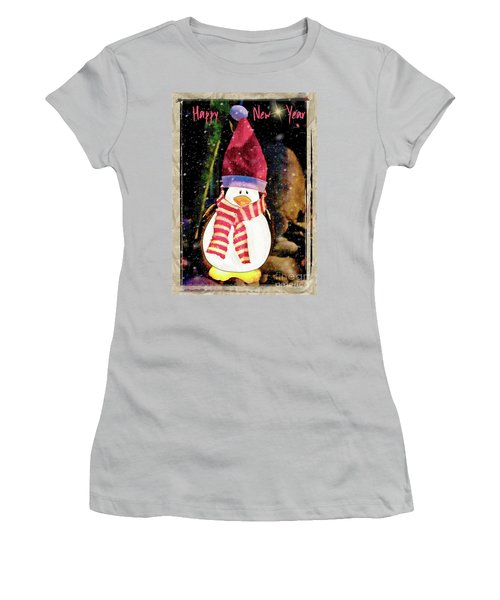 Happy New Year Snowduck Women's T-Shirt (Athletic Fit)