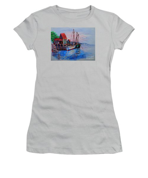 Harbour Women's T-Shirt (Junior Cut) by Viktor Lazarev