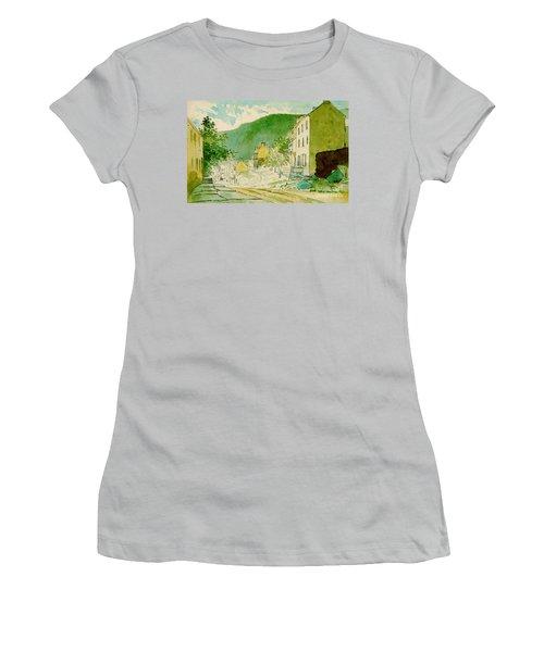 Harpers Ferry West Virginia 1873 Women's T-Shirt (Junior Cut) by Padre Art