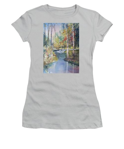 Hartman Creek Birches Women's T-Shirt (Athletic Fit)