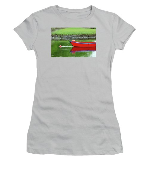 Harwich Rowboat Women's T-Shirt (Junior Cut) by Jim Gillen
