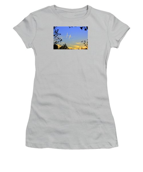 Hashtag Sky Women's T-Shirt (Junior Cut) by Lew Davis