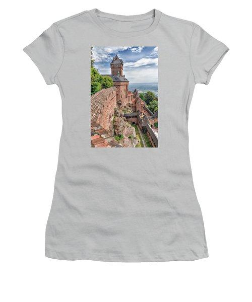 Women's T-Shirt (Junior Cut) featuring the photograph Haut-koenigsbourg by Alan Toepfer
