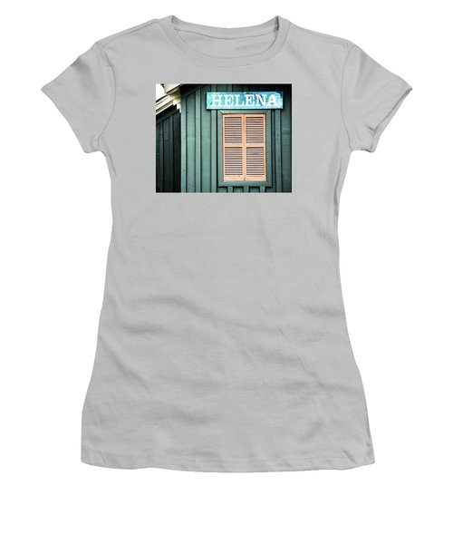 Women's T-Shirt (Junior Cut) featuring the photograph Helena Sign On A Spring Day by Parker Cunningham