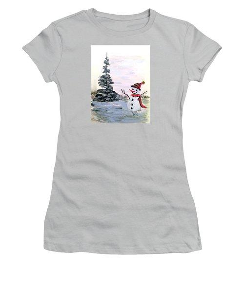 Here I Am Women's T-Shirt (Junior Cut) by Dorothy Maier