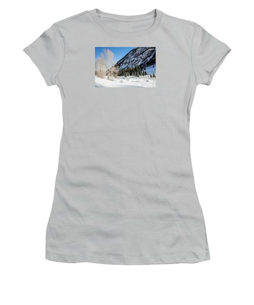 High In The Rockies Before Independence Pass Women's T-Shirt (Junior Cut) by Carol M Highsmith