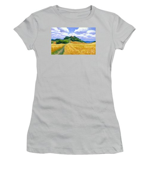 Women's T-Shirt (Junior Cut) featuring the painting High Noon Tuscany  by Michael Swanson