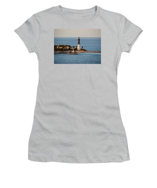 Hillsboro Lighthouse In Florida Women's T-Shirt (Athletic Fit)
