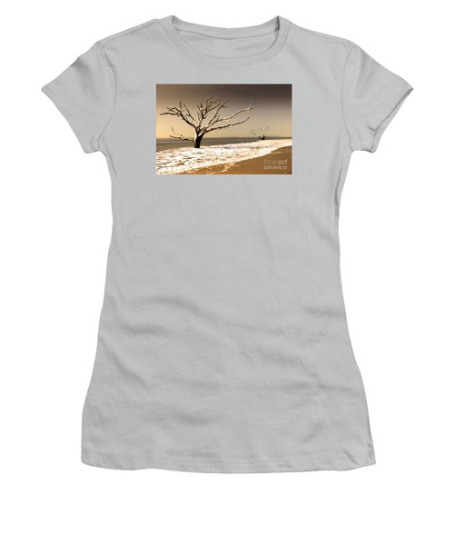 Women's T-Shirt (Junior Cut) featuring the photograph Hold The Line by Dana DiPasquale