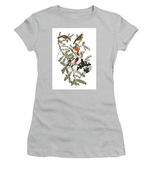 Women's T-Shirt (Junior Cut) featuring the photograph Holiday Birds by Munir Alawi