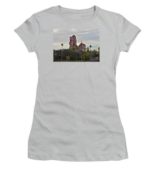 Hollywood Studios Tower Of Terror Women's T-Shirt (Junior Cut) by Carol  Bradley