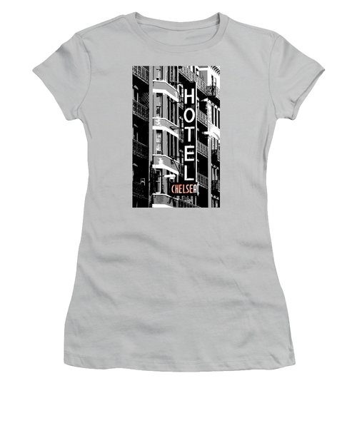 Hotel Chelsea Women's T-Shirt (Junior Cut) by Christopher Woods