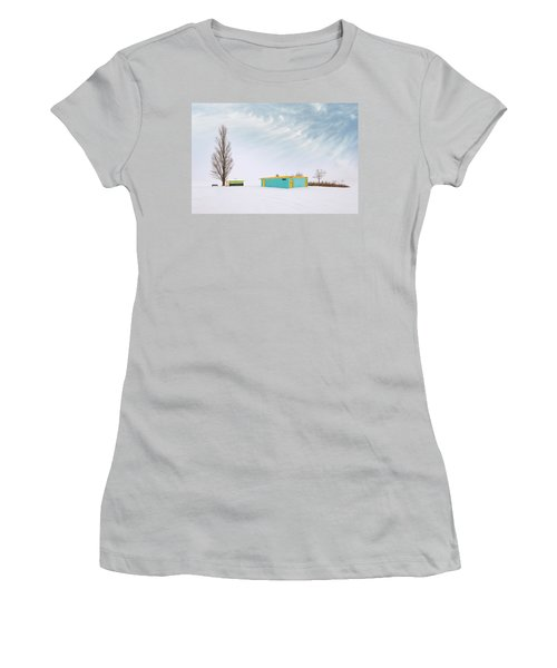 Women's T-Shirt (Junior Cut) featuring the photograph How To Wear Bright Colors In The Winter by John Poon