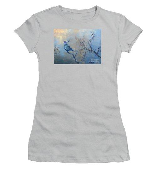 Humming Bird Women's T-Shirt (Junior Cut) by Laurianna Taylor