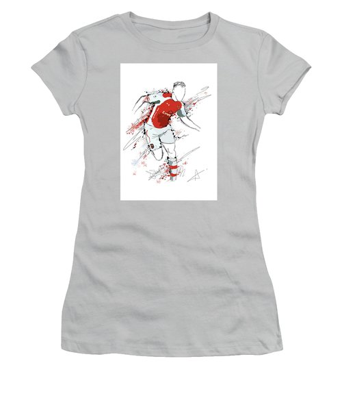 I Am Red And White Women's T-Shirt (Athletic Fit)