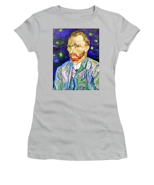 Women's T-Shirt (Junior Cut) featuring the painting I Dream My Painting And I Paint My Dream by Belinda Low