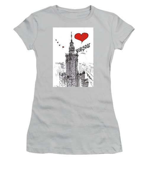 I Love Warsaw Women's T-Shirt (Junior Cut) by Sladjana Lazarevic