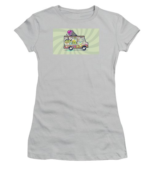 Ice Cream Truck Women's T-Shirt (Athletic Fit)