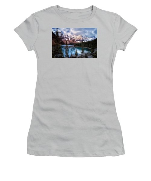 Icy Stillness Women's T-Shirt (Athletic Fit)
