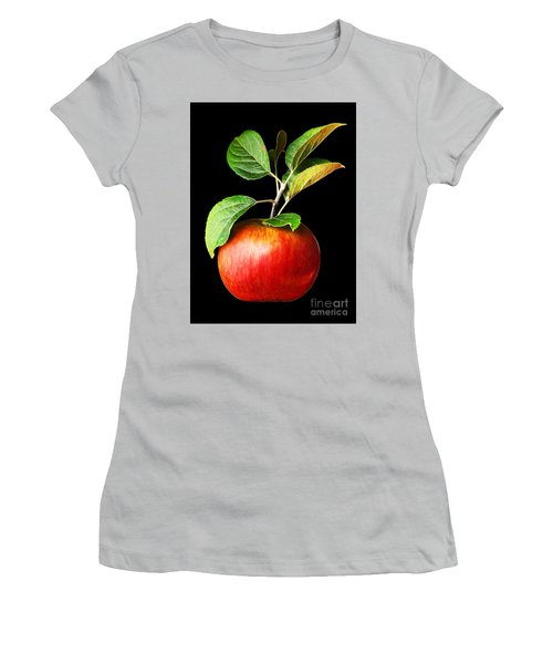 Ida Red Apple And Leaves Women's T-Shirt (Junior Cut) by Wernher Krutein