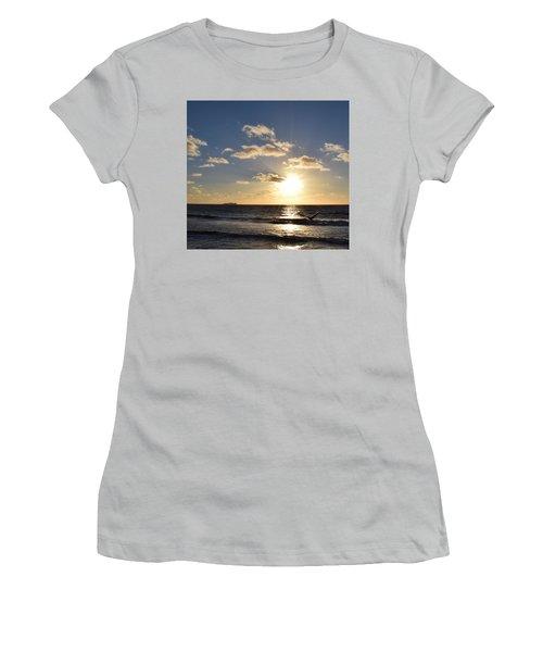 Imperial Beach Sunset Reflection Women's T-Shirt (Junior Cut) by Karen J Shine