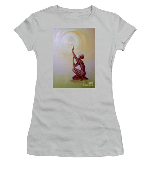 In The Beginning Women's T-Shirt (Junior Cut) by Marlene Book