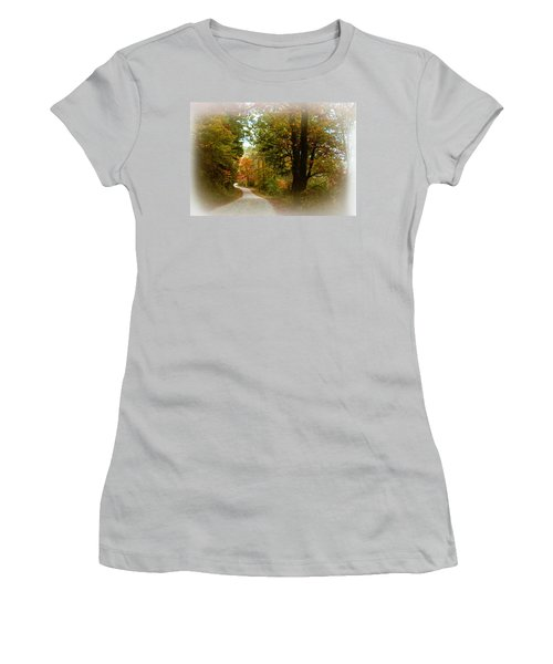 In The Mountains Of Georgia Women's T-Shirt (Junior Cut) by Sharon Batdorf