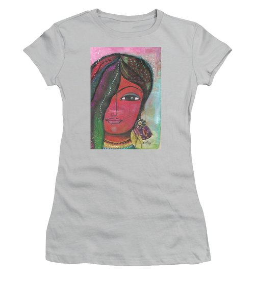 Indian Woman Rajasthani Colorful Women's T-Shirt (Athletic Fit)