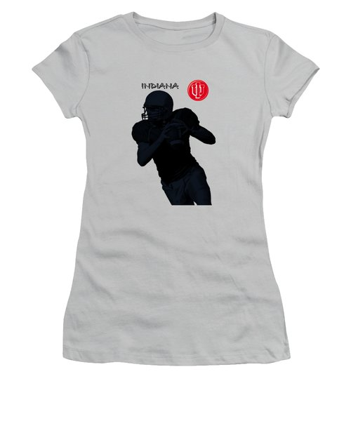 Indiana Football Women's T-Shirt (Athletic Fit)