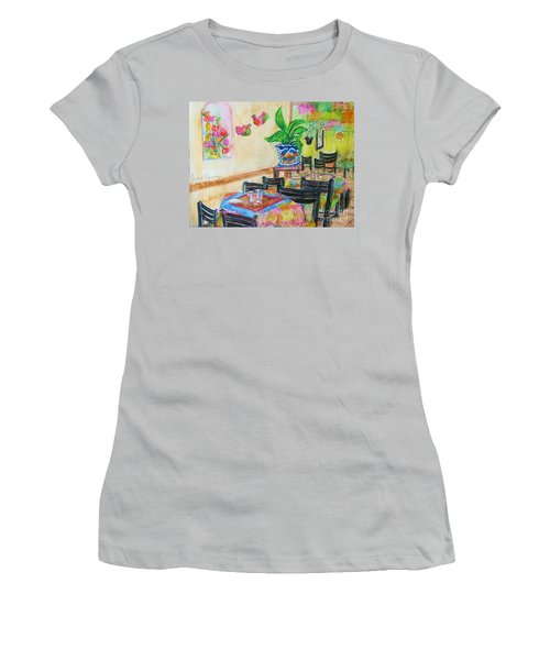 Indoor Cafe - Gifted Women's T-Shirt (Junior Cut) by Judith Espinoza
